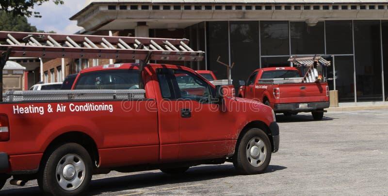 HVAC修理和维护技术员 免版税库存照片
