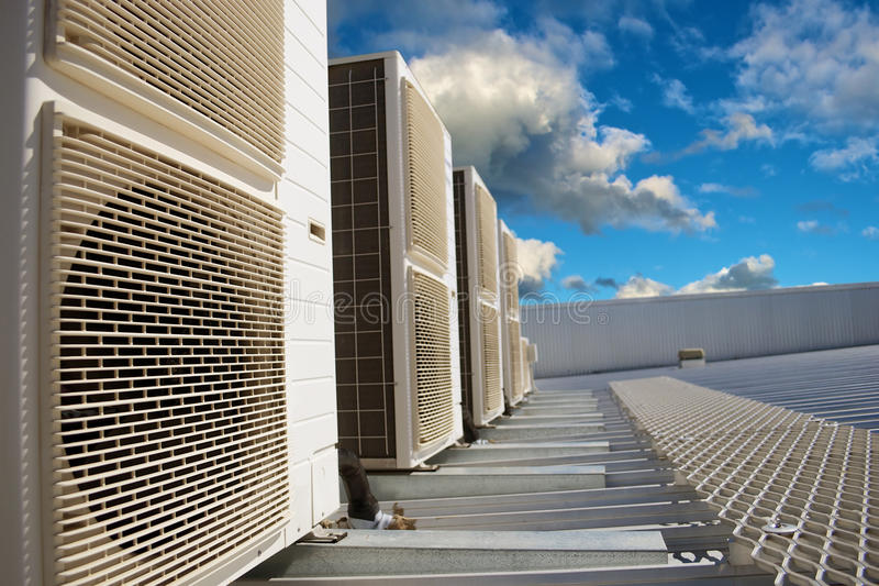 HVAC-Airconditioningseenheden stock afbeelding