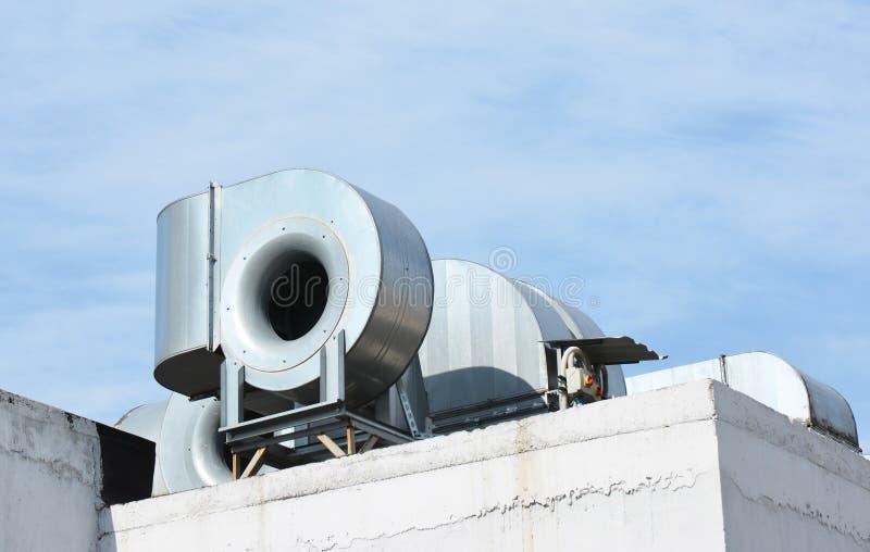 HVAC como aire acondicionado de ventilación de la calefacción CA-calentador Sistemas industriales del aire acondicionado y de ven imagenes de archivo