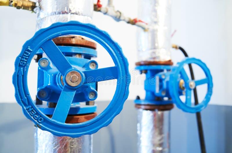 Hvac concept. valve in boiler room. Hvac concept. two valve in boiler room stock image