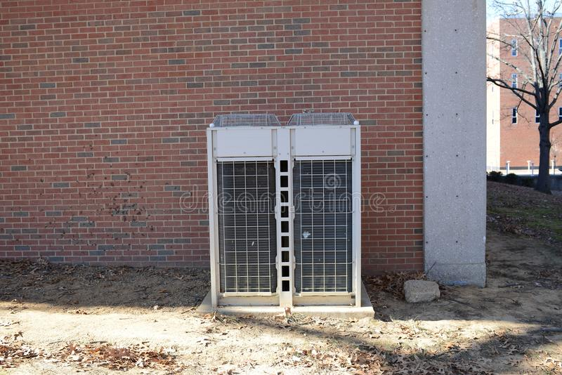 HVAC-de behandelende eenheid van de Luchtcondensator royalty-vrije stock afbeeldingen