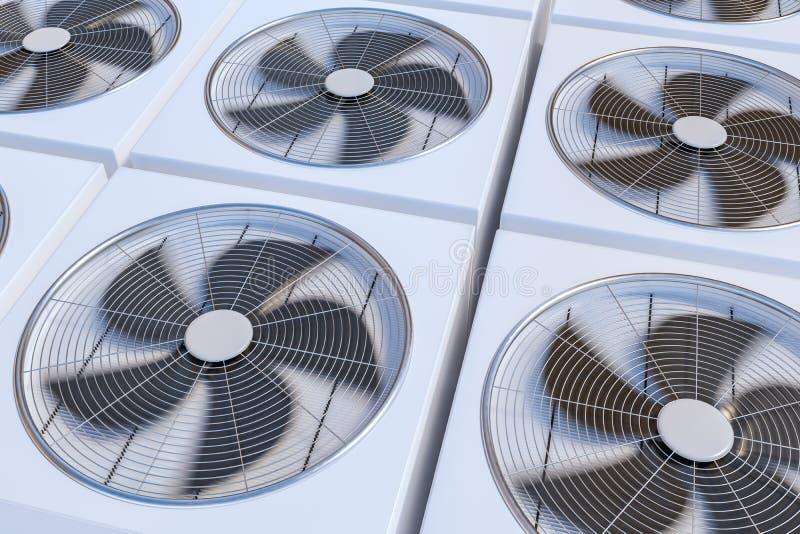 Hvac-Einheitsheizung, -belüftung Und -klimaanlage 3D übertrug ...