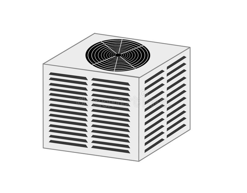 Hvac-Kondensator-Einheits-Illustration stock abbildung
