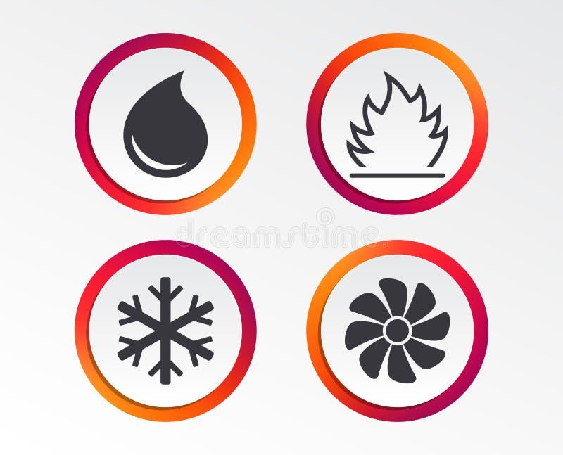 HVAC Värma, ventilera och betinga för luft stock illustrationer