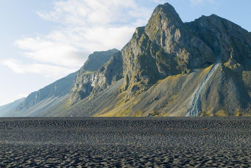 Hvalnes lava beach landscape, east Iceland landmark royalty free stock photography