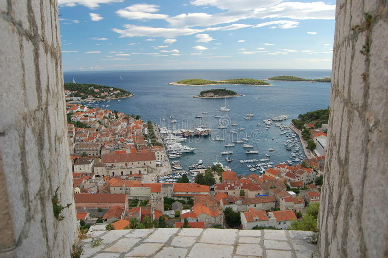 Spectacular View Of The Old Town Of Hvar, Croatia Stock Image