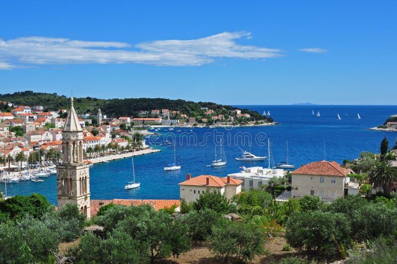 Hvar, Croatia, olhando para fora ao mar imagem de stock royalty free