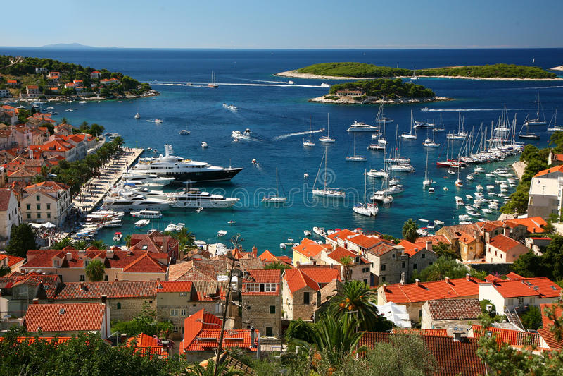 Hvar eiland royalty-vrije stock foto's
