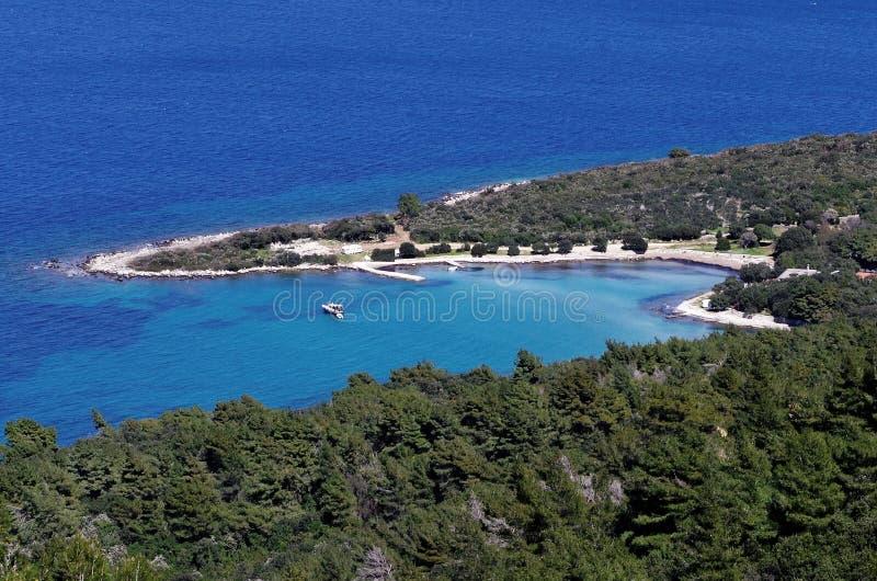 Hvar, Kroatië - Mlaska-baai stock fotografie