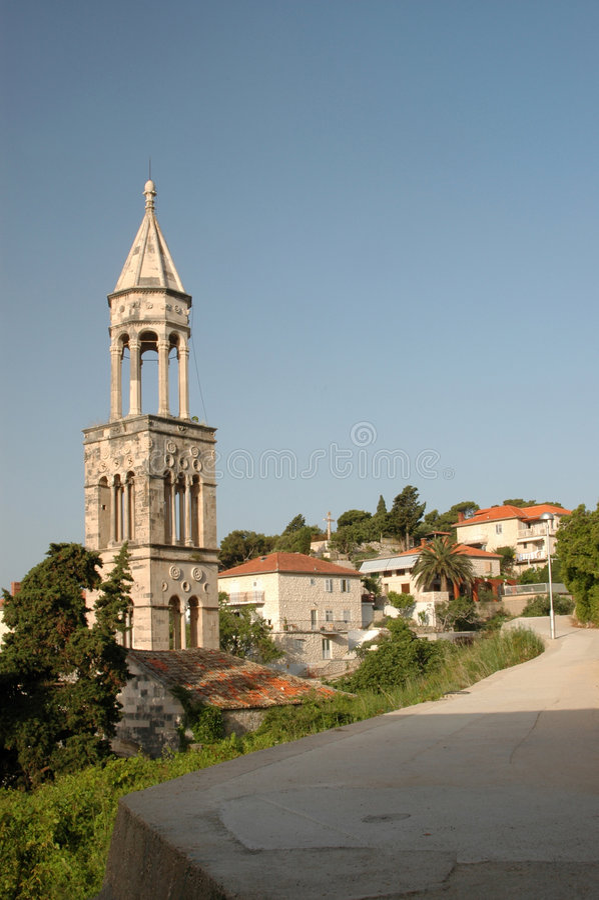 Hvar town croatia stock photography