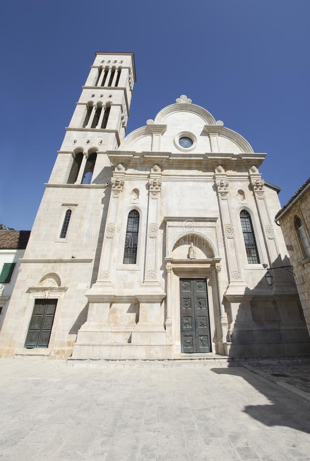 Free Hvar Town Old Church Or Cathedral Stock Photos - 156275843