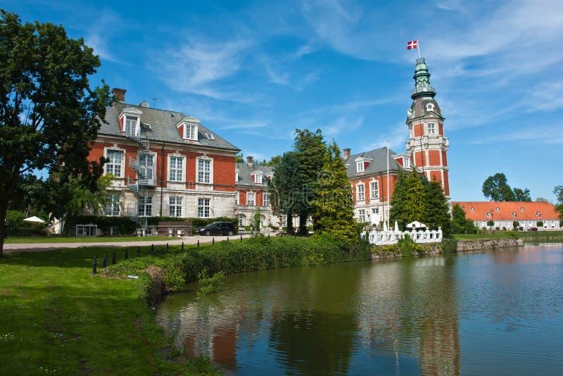 Hvedholm castle slot Funen Denmark royalty free stock photo