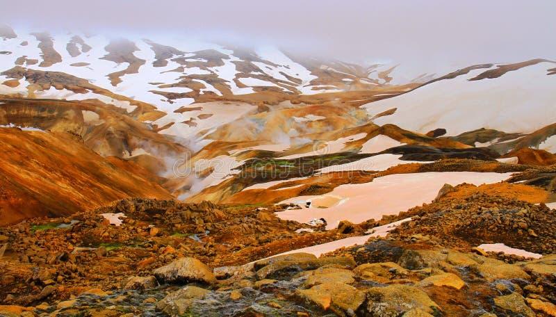 Hveradalir geothermal park, Kerlingarfjoll, Iceland. Mountains in Hveradalir geothermal park, Kerlingarfjoll, Iceland royalty free stock photos