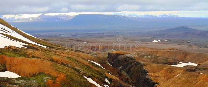 Hveradalir geothermal park, Kerlingarfjoll, Iceland. Mountains in Hveradalir geothermal park, Kerlingarfjoll, Iceland royalty free stock images