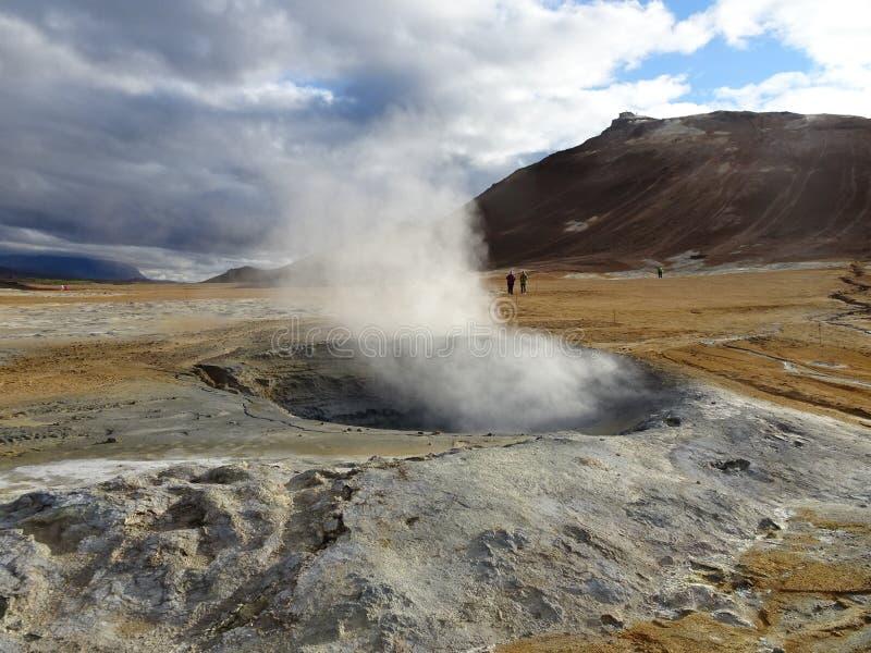 Hverarond volcanic area stock image