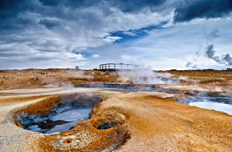 Hverir geotermisk lokal royaltyfri foto