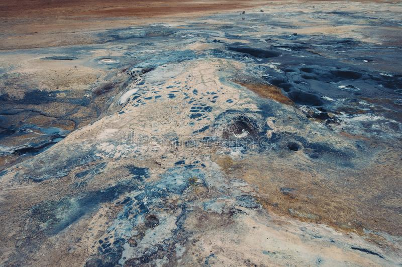 Hverir Geothermal Area In Iceland royalty free stock photography