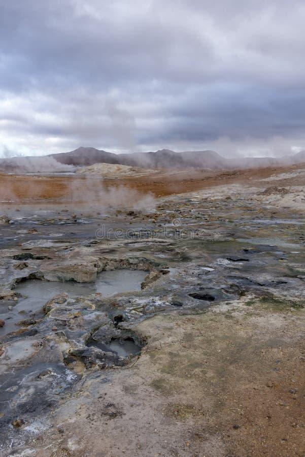 Hverir, Hülsen, stinky Dampf und Hügel stockbilder
