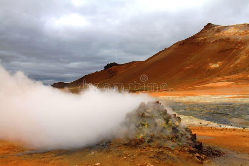 Hverir geothermal park near Myvatn lake, Iceland. Hverir hot springs geothermal park near Myvatn lake, Iceland stock photography