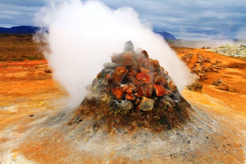 Hverir geothermal park near Myvatn lake, Iceland. Hverir hot springs geothermal park near Myvatn lake, Iceland stock photo