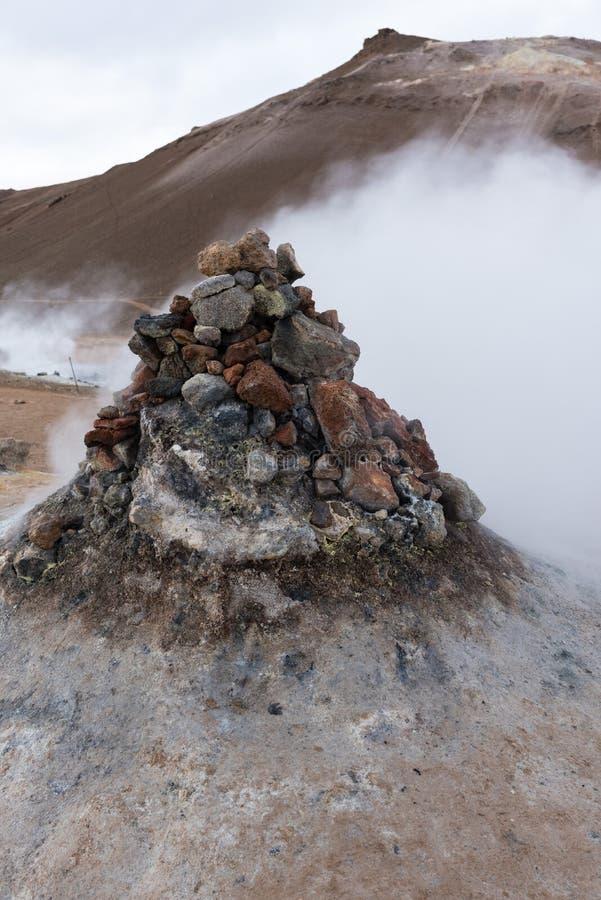 Hverir, respiradero del vapor imagen de archivo libre de regalías