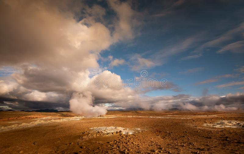Hvevir geothermal area in Iceland royalty free stock images