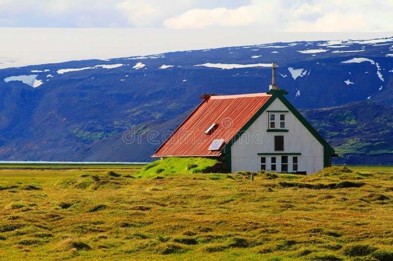 Hvitarnes-H?tte, Island lizenzfreie stockbilder