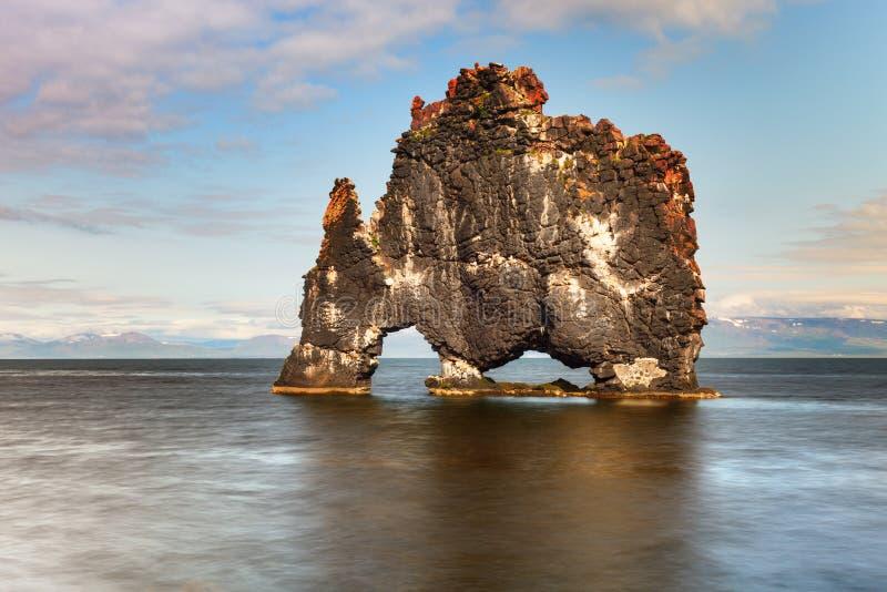 Hvitserkur, Islanda immagini stock
