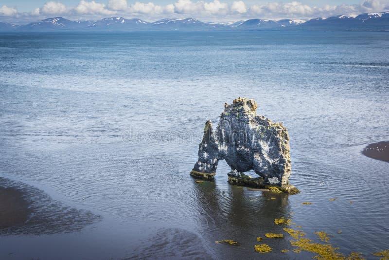Hvitserkur, Islandia fotografía de archivo libre de regalías