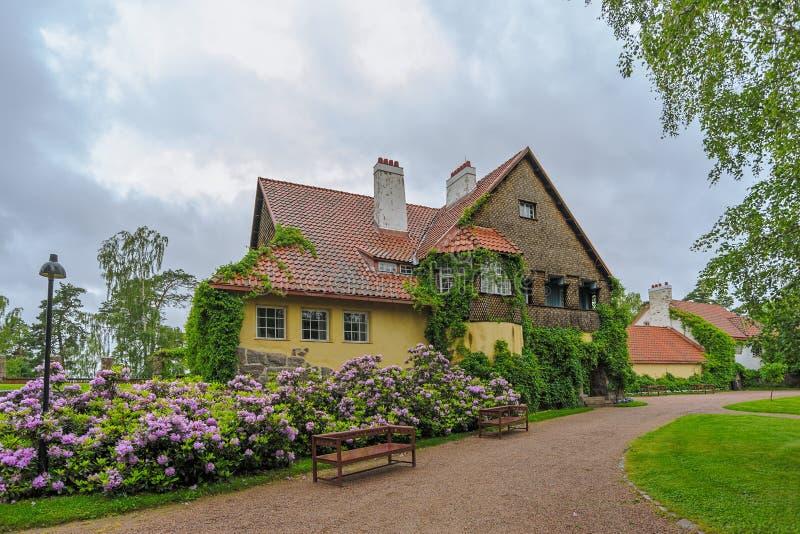 Hvittrask庄园, Kirkkonummi,芬兰主楼  图库摄影