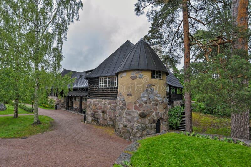 Hvittrask庄园, Kirkkonummi,芬兰 餐馆和咖啡馆 免版税库存照片