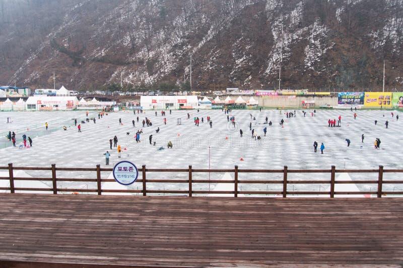 Hwacheon Ice Fishing Festival royalty free stock image