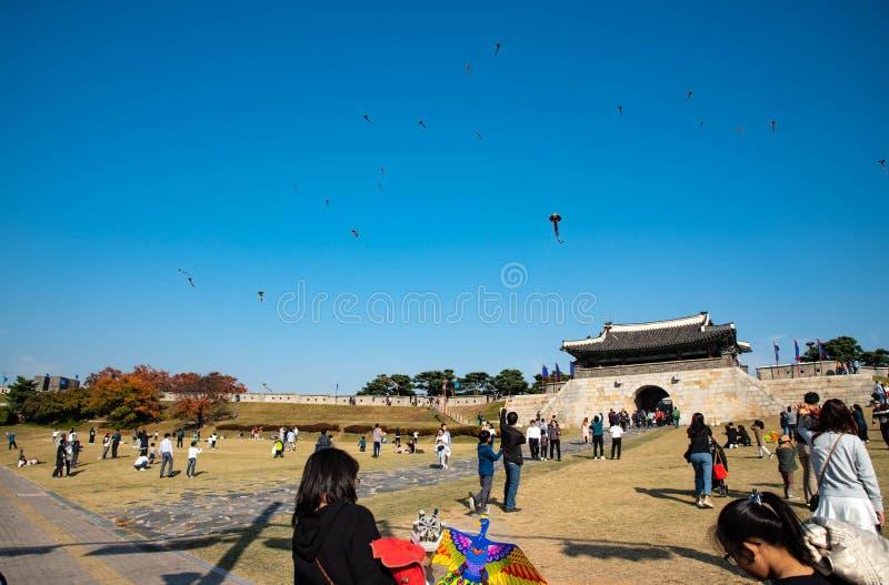 Hwaseong Festung lizenzfreie stockfotografie