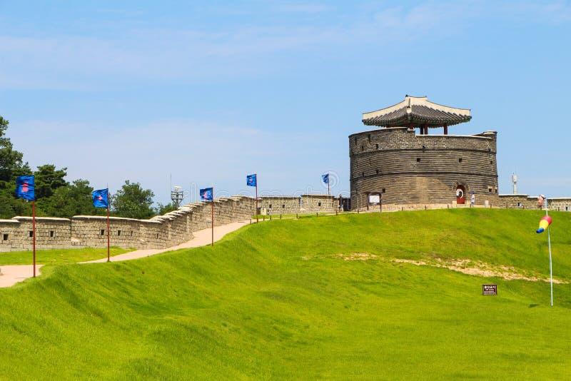 Hwaseong Festung lizenzfreies stockbild