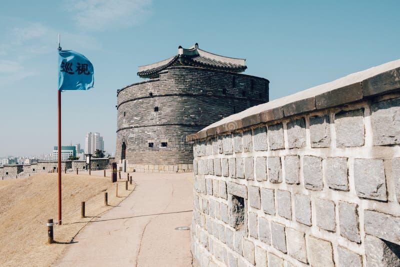 Hwaseong-Festung Dongbukgongsimdon, traditionelle Architektur in Suwon, Korea stockfotografie