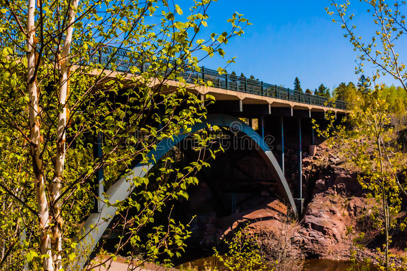 HWY 61 Bridge. Gooseberry Falls State Park stock photography