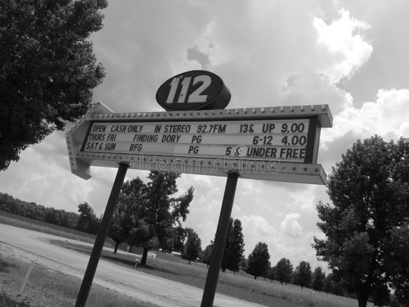 HWY 112 kino drive-in teatr obrazy royalty free