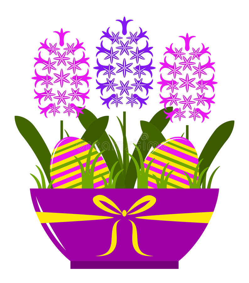 Hyacinths In Pot Stock Photography