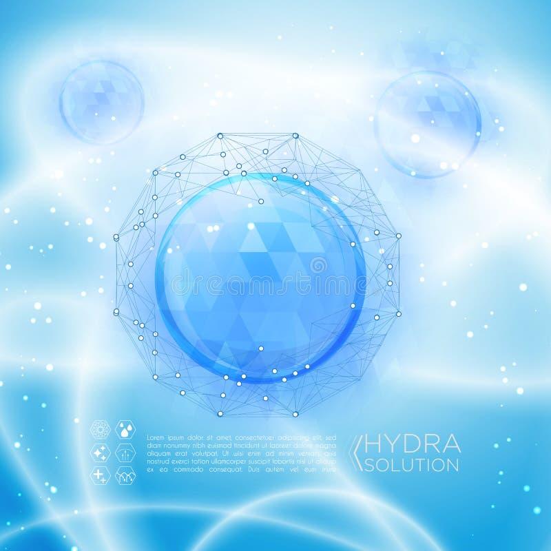 Hyaluronic zuur of abstract moleculesontwerp royalty-vrije illustratie