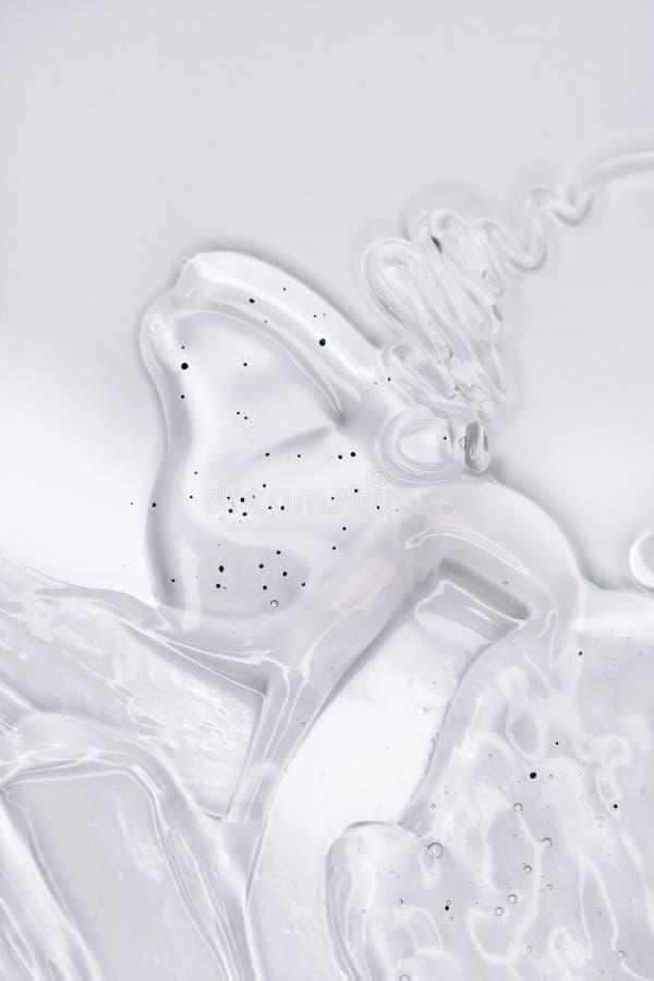 Hyaluronzuur op witte achtergrond Bovenaanzicht, vlakke laag royalty-vrije stock fotografie