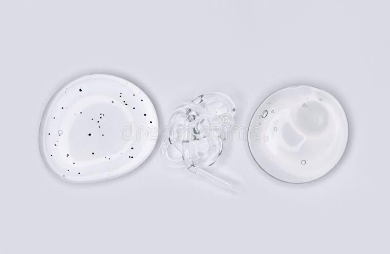 Hyaluronzuur op witte achtergrond Bovenaanzicht, vlakke laag royalty-vrije stock afbeeldingen