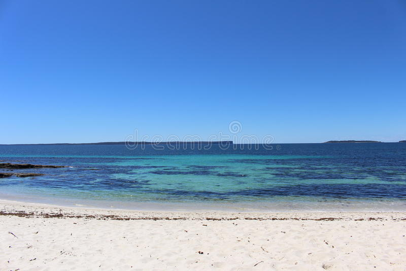 Hyams strand på den Booderee nationalparken royaltyfri foto