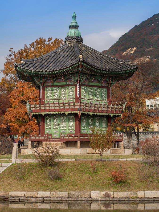 Hyangwon-Jeong Pavillion在韩国 免版税库存照片