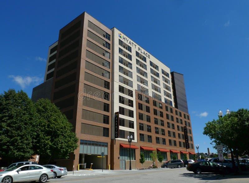Hyatt miejsca budynek, Omaha, Nebraska zdjęcia royalty free
