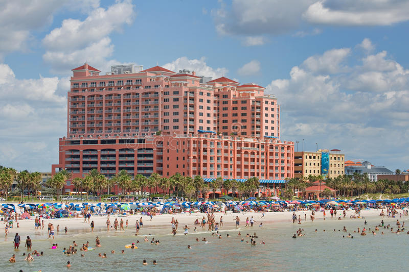 Hyatt Regency Clearwater Beach Resort and Spa. On Clearwater Beach royalty free stock photography