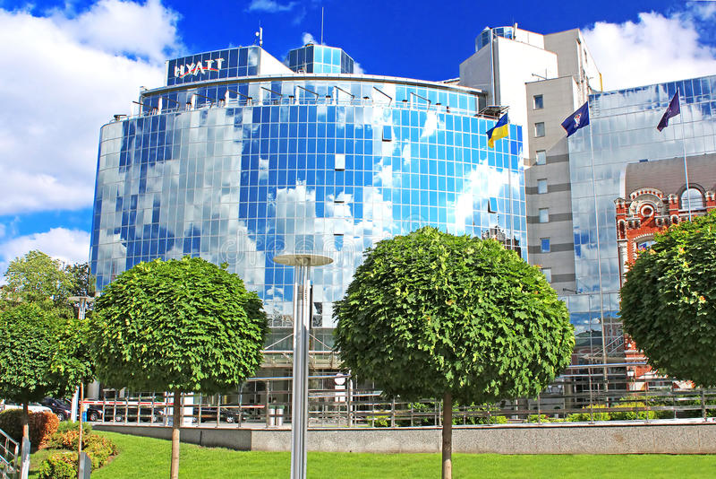 Hyatt Regency Kyiv abre o hotel de cinco estrelas perto do quadrado de Sófia em Kyiv, Ucrânia fotografia de stock royalty free