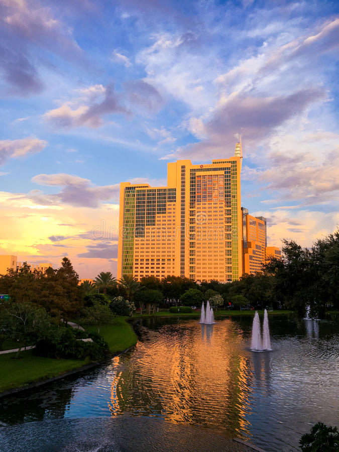 Hyatt Regency in Orlando, Florida royalty-vrije stock afbeelding
