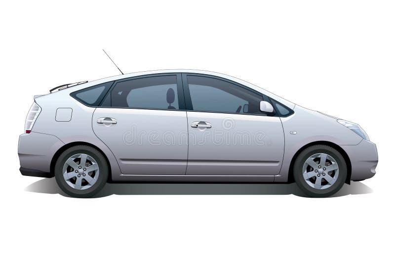 Hybrid Car stock illustration