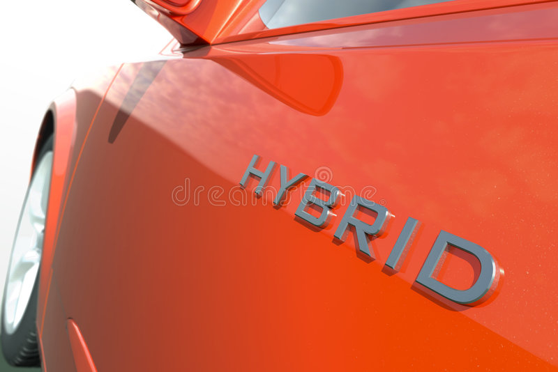 Hybrid car royalty free illustration
