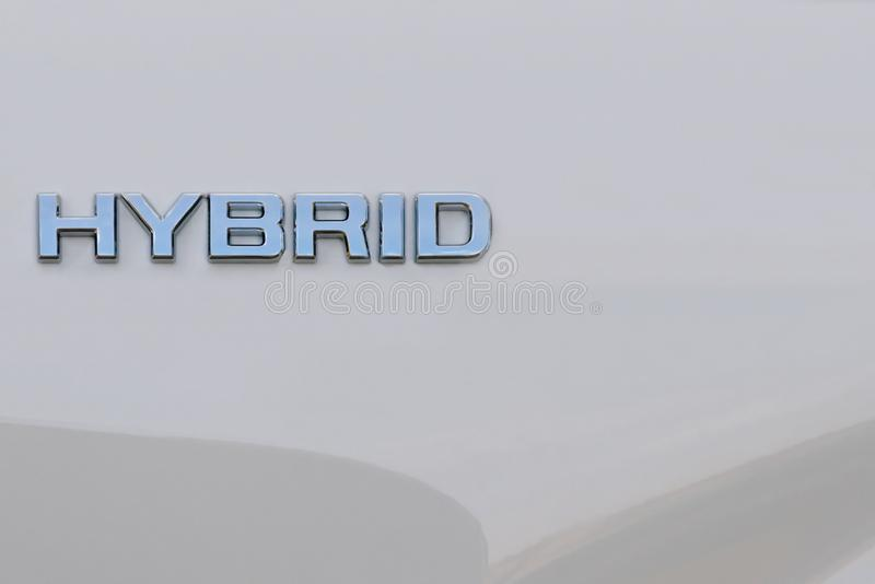 Hybrid word on white background royalty free stock image